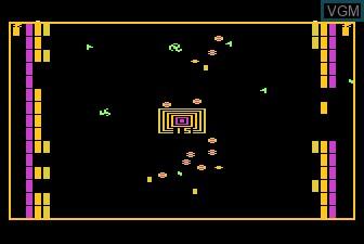 In-game screen of the game Xari Arena on Atari 5200