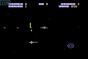 In-game screen of the game Zone Ranger on Atari 5200
