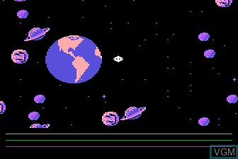 In-game screen of the game Astro Chase on Atari 5200