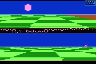 In-game screen of the game Ballblazer on Atari 5200