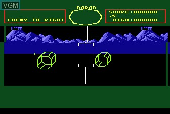 In-game screen of the game Battlezone on Atari 5200