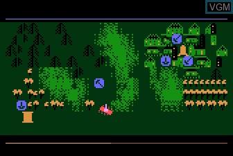 In-game screen of the game Countermeasure on Atari 5200