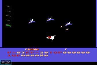 In-game screen of the game Zaxxon on Atari 5200