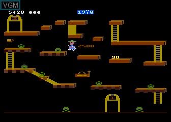 In-game screen of the game Bounty Bob Strikes Back on Atari 5200