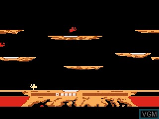In-game screen of the game Joust on Atari 5200