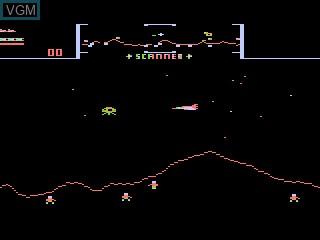 In-game screen of the game Stargate on Atari 5200