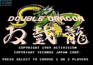 Title screen of the game Double Dragon on Atari 7800