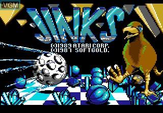 Title screen of the game Jinks on Atari 7800