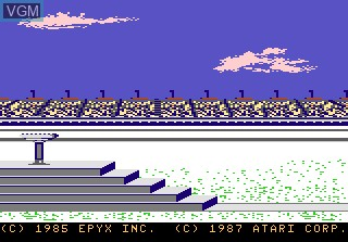Title screen of the game Winter Games on Atari 7800