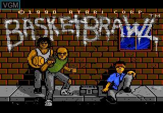 Title screen of the game Basketbrawl on Atari 7800