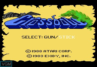 Title screen of the game Crossbow on Atari 7800
