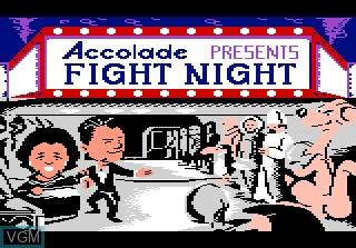 Title screen of the game Fight Night on Atari 7800