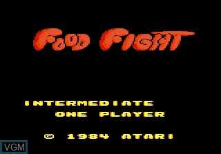 Title screen of the game Food Fight on Atari 7800
