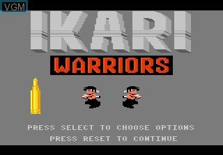 Title screen of the game Ikari Warriors on Atari 7800