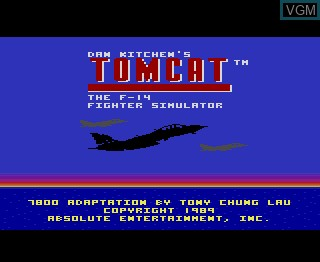 Title screen of the game Tomcat - The F-14 on Atari 7800