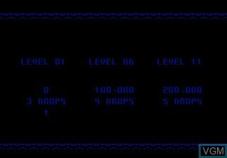 Menu screen of the game Klax on Atari 7800