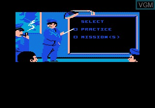 Menu screen of the game Ace of Aces on Atari 7800