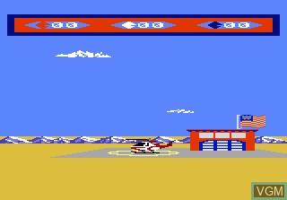 Menu screen of the game Choplifter on Atari 7800