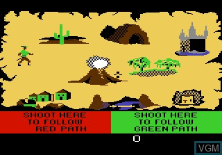 Menu screen of the game Crossbow on Atari 7800