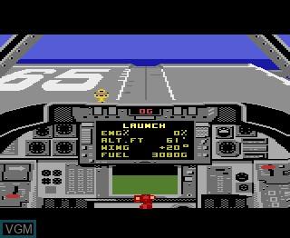 Menu screen of the game Tomcat - The F-14 on Atari 7800