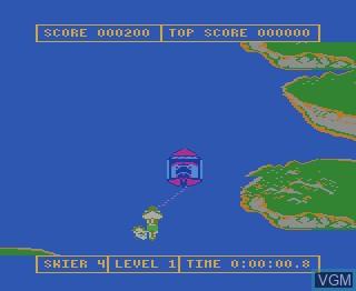 Menu screen of the game Water Ski on Atari 7800