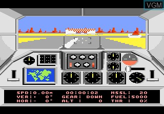 In-game screen of the game F-18 Hornet on Atari 7800