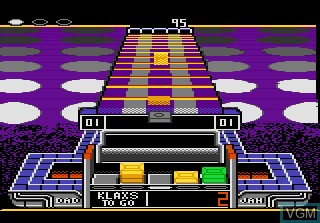 In-game screen of the game Klax on Atari 7800