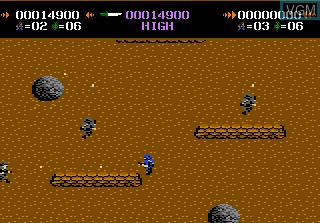 In-game screen of the game Commando on Atari 7800