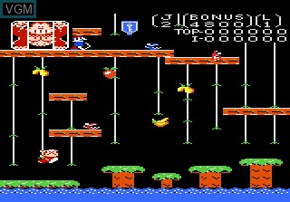 In-game screen of the game Donkey Kong Jr on Atari 7800