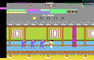 In-game screen of the game Kung Fu Master on Atari 7800