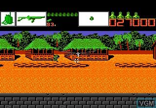 In-game screen of the game Alien Brigade on Atari 7800