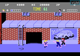 In-game screen of the game Double Dragon on Atari 7800