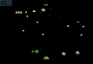 In-game screen of the game 3D Asteroids on Atari 7800