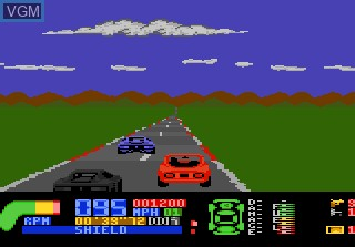 In-game screen of the game Fatal Run on Atari 7800