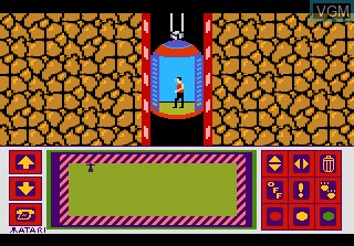 In-game screen of the game Impossible Mission on Atari 7800
