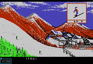 In-game screen of the game Winter Games on Atari 7800