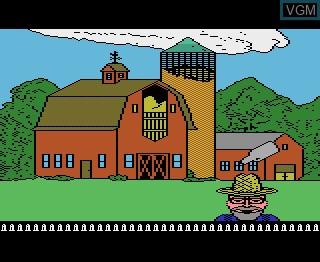 In-game screen of the game Barnyard Blaster on Atari 7800