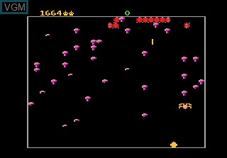 In-game screen of the game Centipede on Atari 7800