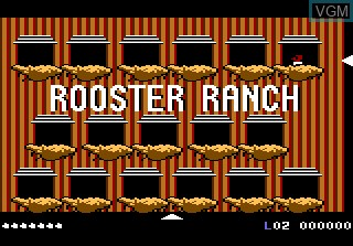 In-game screen of the game Crack'ed on Atari 7800