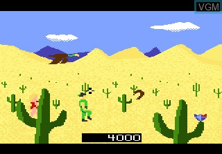 In-game screen of the game Crossbow on Atari 7800