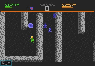 In-game screen of the game Dark Chambers on Atari 7800