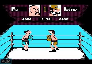 In-game screen of the game Fight Night on Atari 7800
