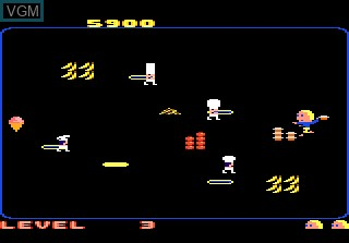 In-game screen of the game Food Fight on Atari 7800