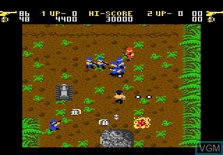 In-game screen of the game Ikari Warriors on Atari 7800