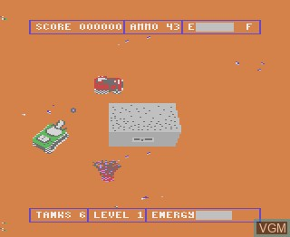 In-game screen of the game Tank Command on Atari 7800