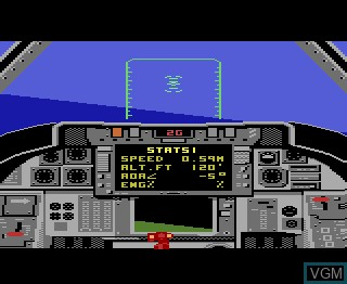 In-game screen of the game Tomcat - The F-14 on Atari 7800