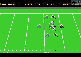 In-game screen of the game Touchdown Football on Atari 7800
