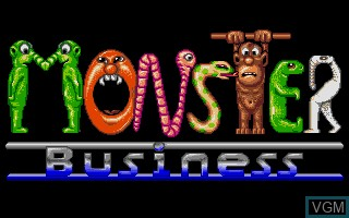 Title screen of the game Monster Business on Atari ST