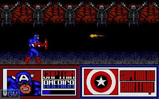 In-game screen of the game Amazing Spider-Man, The and Captain America in Doctor Doom's Revenge! on Atari ST