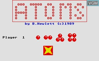 In-game screen of the game Atoms on Atari ST